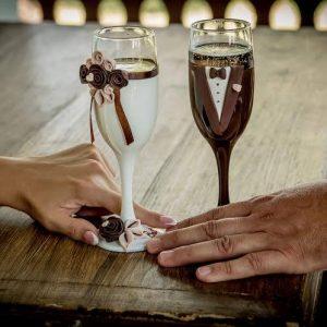Csoki álom pezsgős pohár pár