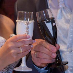 Ékszer pezsgős pohár pár