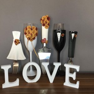 Arany varázs esküvői  szett