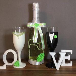 Zöld álom  esküvői szett