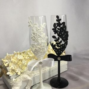 Csipke pezsgős pohár