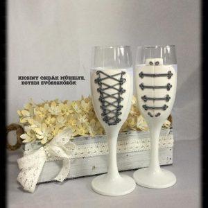 Magyaros varázs esküvői  pezsgős pohár