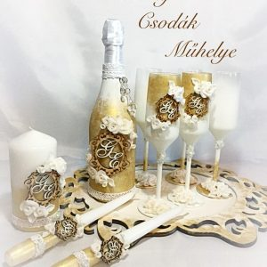 Gold roses esküvői  szett