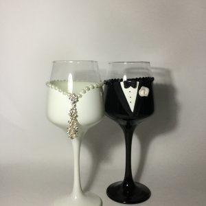 Ékszer esküvői  boros pohár