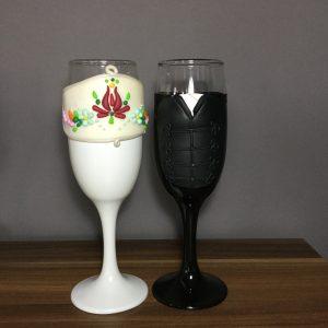 Magyaros varázs pezsgős pohár