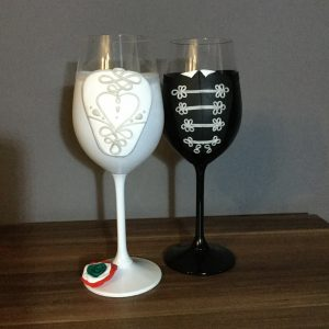 Magyaros szerelem  esküvői boros pohár