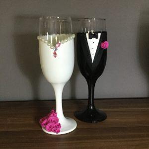 Gyöngy  esküvői pezsgős pohár