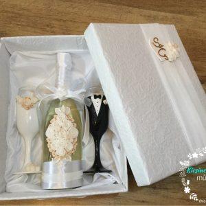 Fehér rózsa esküvői  szett