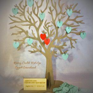 Esküvői vendég fa