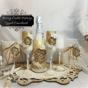 Gold roses esküvői  szett 2.