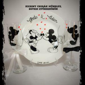 Mickey & Minnie  esküvői szett