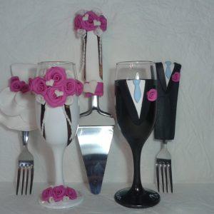 Pink álom esküvői  szett