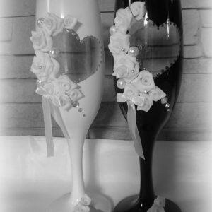 Szív esküvői pezsgős pohár