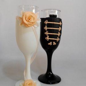 Magyaros álom esküvői  pezsgős pohár