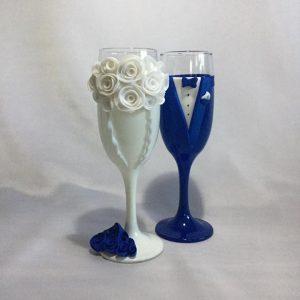 Fehér varázslat esküvői  pezsgős pohár