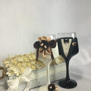 Csoki boros esküvői  pohár
