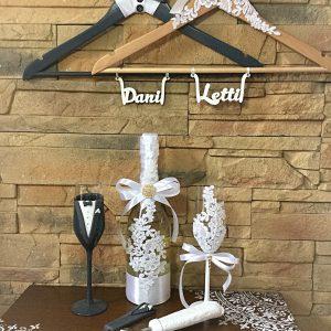 Álom csipke  esküvői szett