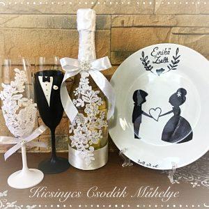 Csipke csoda esküvői szett