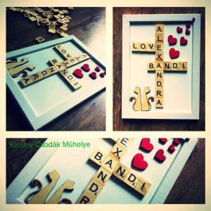 Scrabble dekoráció ,képkeret