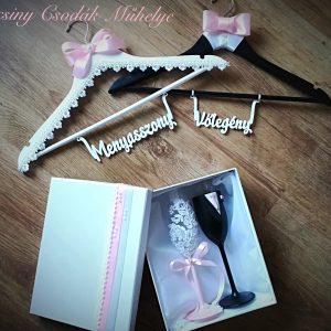 Rózsaszín varázslat  esküvői szett