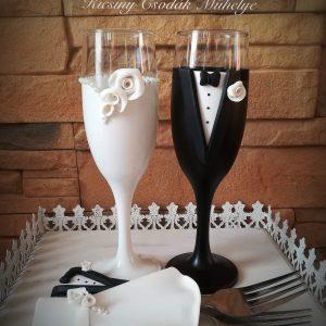 Fehér  szerelem  esküvői szett 2.