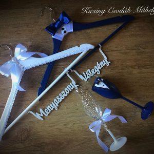 Zafír kék  esküvői szett