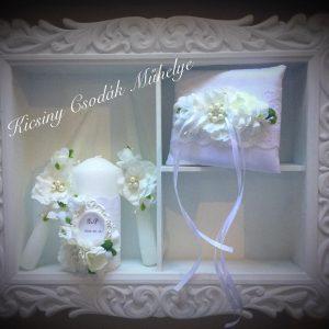 Esküvői gyertya,gyűrűtartóval