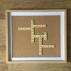 Scrabble dekoráció ,képkeret 3.