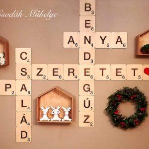 Scrabble fali dekoráció