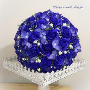 Király kék rózsa csokor